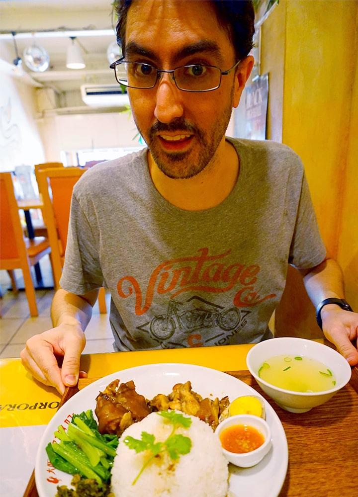 """泰国料理""""大阪Khao Man Gai Cafe""""的午餐"""
