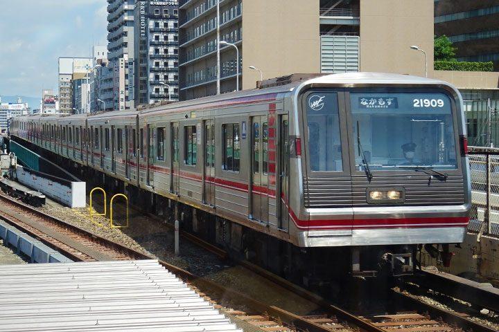 :Osaka Metro 御堂筋线 开往中百舌鸟方向的车辆