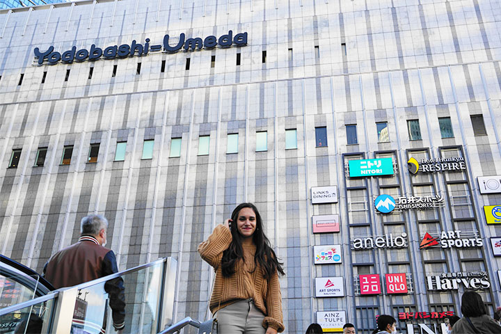 "使用Osaka Metro Group 指南APP""AR导航""抵达友都八喜"