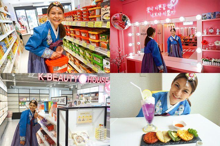 在鹤桥的韩国楼里逛超市、选美妆、拍大头贴、品尝咖啡